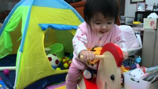 Emma Loves Riding Her Educo Rocking Horse! (1y19d)