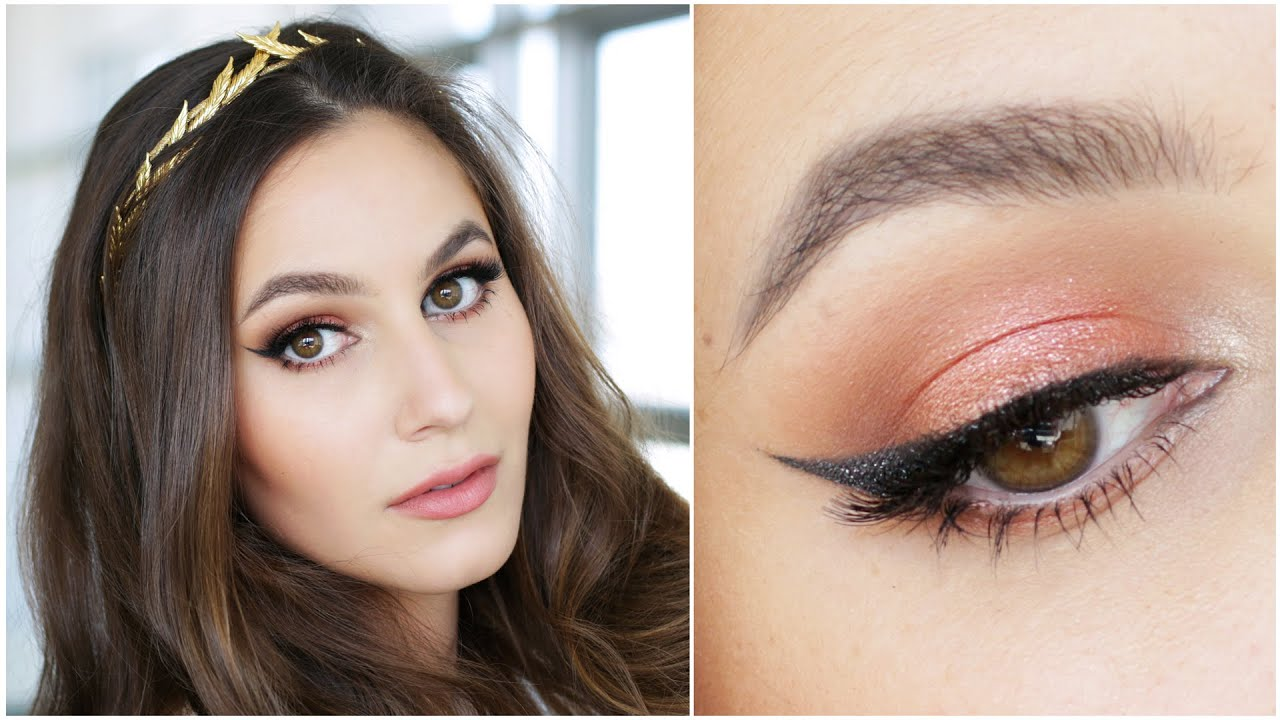 Spring Goddess Peach Coral Makeup Tutorial