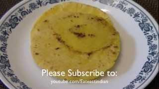 How To Make Makki Ki Roti | Indian Corn Flour Bread Recipe