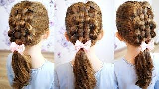 Zipper Braid Updo | Cute Girls Hairstyles | Zipper Braid Hair Tutorial