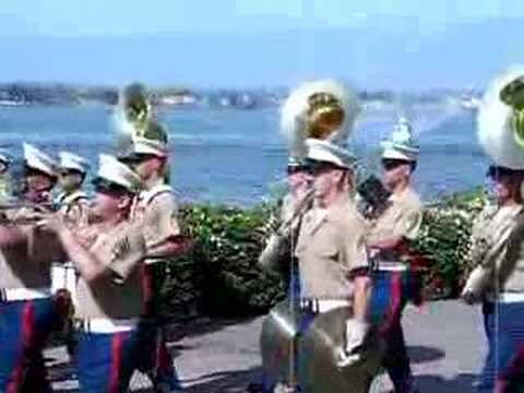 "MCRD San Diego Marine Corps Band playing ""Black Jack"""