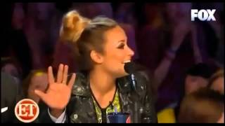"Demi Lovato getting burned on  X Factor USA, "" That"