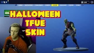 NEW HALLOWEEN GREEN DEFAULT TFUE SKIN IN-GAME FORTNITE