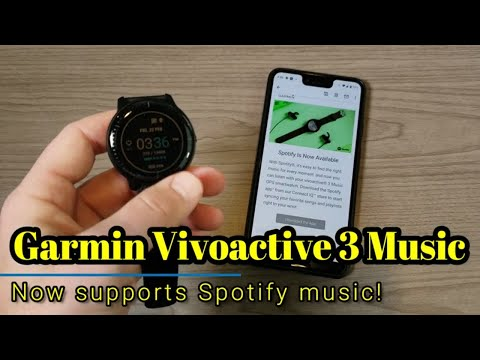 Garmin Vivoactive 3 Music - Even better, now with support for Spotify! Mp3