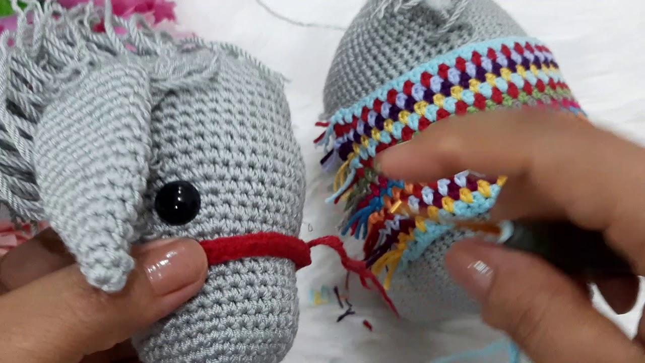 Amigurumi Donkey (Eşek) Yapılışı - Free Crochet Pattern ... | 720x1280