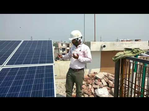 How does Grid tied Solar system works. Solar roof top installation by UNIFY SOLAR, Delhi