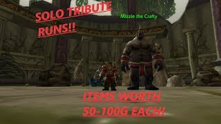 Hunter Classic WoW Solo Tribute Run Guide 60-100g+/hour!