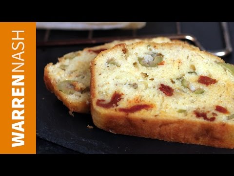 Comté Cheese Loaf Cake - With Olives & Sun-dried Tomatoes - Recipes By Warren Nash