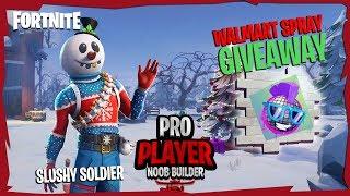 [SLUSHY SOLDIER] || Walmart Spray Giveaway || Fortnite Battle Royale