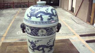 Rare Unique Ancient Chinese Porcelain Steam Pot w456