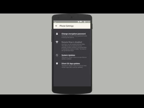 Phone Settings Silent OS 3