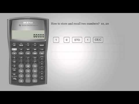 Memory function – Texas Instruments BA II PLUS
