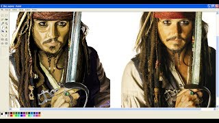 MS Paint #4 Jack Sparrow / Johnny Depp