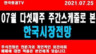7월 다섯째주 주간스케줄로 본 한국시장전망