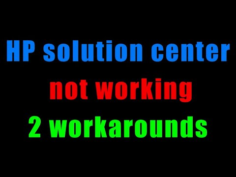 HP Solution Center not working : Adobe Flash Player Error