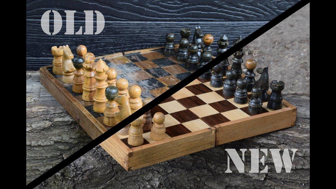 Old chessboard restoration