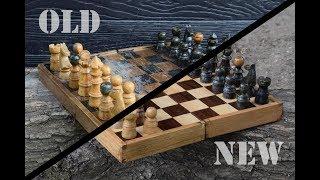 Old chessboard remake restoration