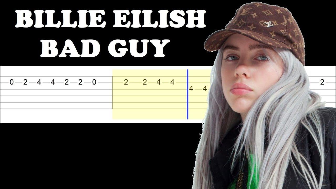 billie eilish bad guy easy guitar tabs tutorial youtube. Black Bedroom Furniture Sets. Home Design Ideas