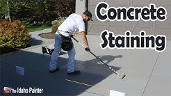 How to stain a concrete driveway fast and easy