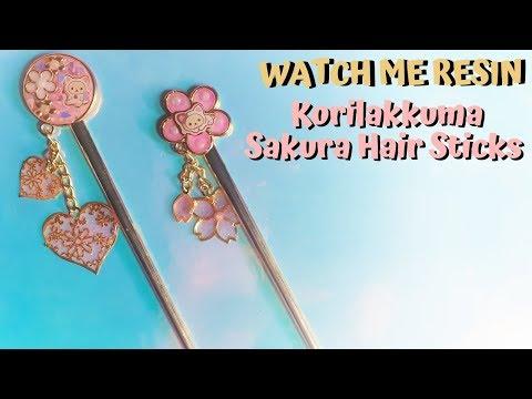 Watch Me Resin - Korilakkuma Sakura Hair Sticks - Sophie and Toffee April Elves Box 2019