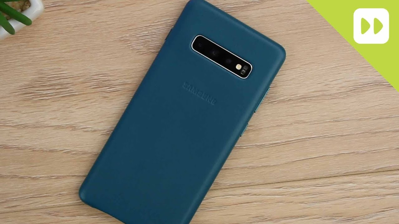 Official Samsung S10 / S10 Plus Genuine Leather Case Review - YouTube
