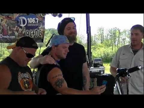 Before Opie Died Ryan Hurst Sons Of Anarchy Signing a Bike For a  !!