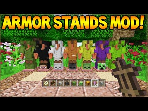 Minecraft Xbox 360/ PS3 - Mod Showcase Acacia Wood Armor Stands Mod (Custom Armors)