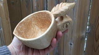 Carving a Leaf Handle Kuksa