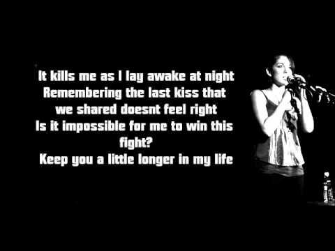 Kina Grannis - Stay Just A Little [Lyrics On Sreen]