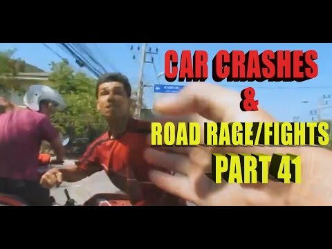 Road Rage 2015   Fight in Roads and Crashes Part 41