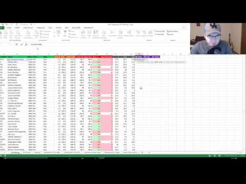 How To Build And NBA DFS Cheat Sheet Part 5 - Bringing In Number Fire Projections (UPDATED)