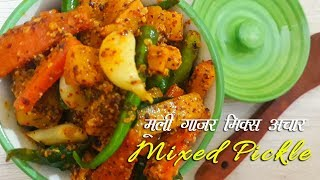 mooli gajar ka mix achaar gaazar muli pickle mixed pickle winter special pickle