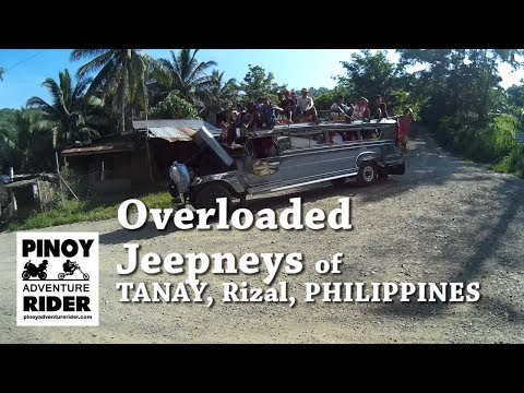 Overloaded Jeepney at Tanay, Rizal,Philippines