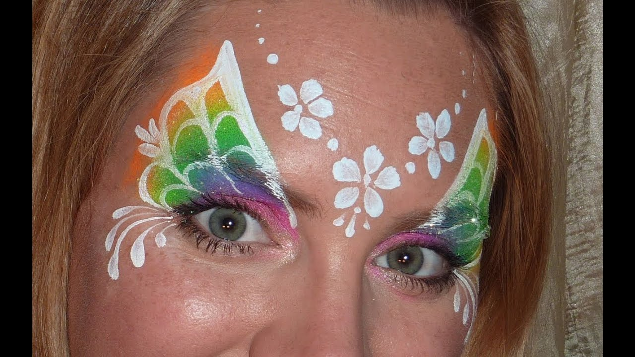 Rainbow Cake Face Paint Designs