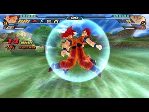 Gohan and Goku SSJ God Fusion into Gokhan Super Saiyan God (DBZ Budokai Tenkaichi 3 Fusion Mod)