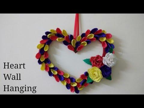 DIY Valentines Wall Decoration Ideas|Heart Wall Hanging|Home Decoration  Ideas|Valentines Gift Ideas