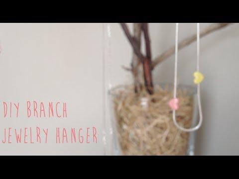 DIY Branch Jewellery Hanger