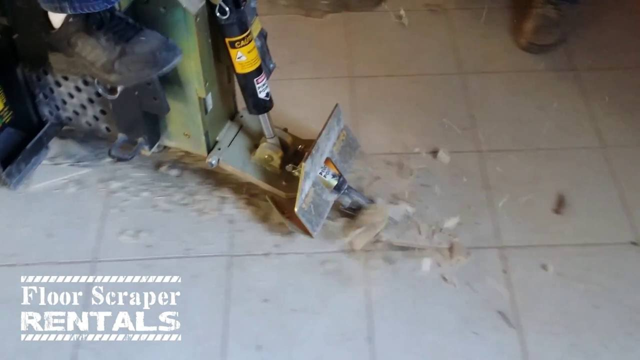 Remove Ceramic Tile Flooring Floor Scraper Rentals Youtube