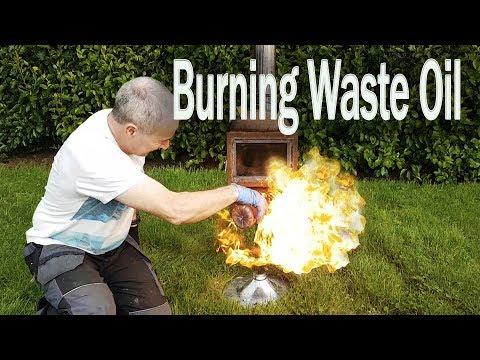 DIY Wood burning Stove Burns Waste oil Too!