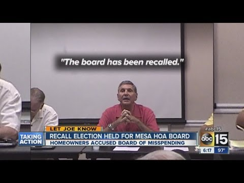 Recall election held for Mesa HOA board