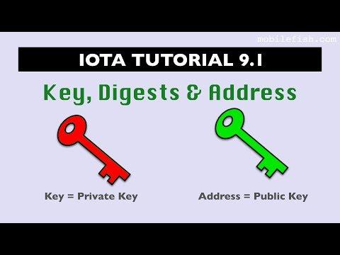 IOTA tutorial 9.1: Key, Digests and Address