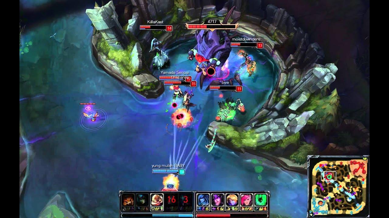 LMHT : Corki 1 vs 5 Pentakill và cướp baron