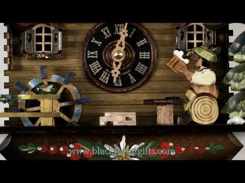 400QM Quartz Battery Operated Musical Cuckoo Clock