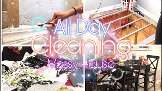 New Extreme All Day Clean With Me 2019 || Speed Cleaning Messy House Motivation | Huge Disaster?