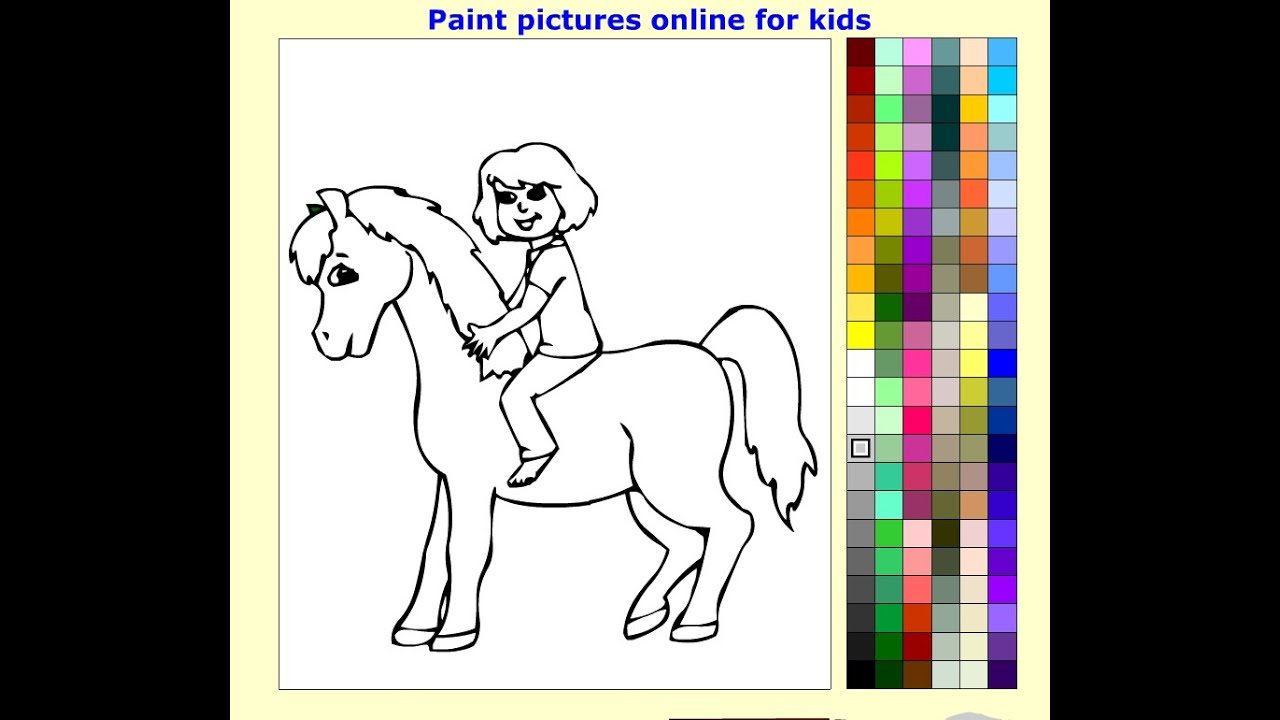 Horseback Riding Coloring Pages For Kids