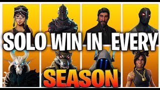 THE EVOLUTION OF FORTNITE - Getting A Solo Victory In EVERY Season 1-8 (Fortnite Nostalgia)