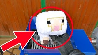 MINECRAFT STUFF SHREDDING (SWORD, CREEPER, PIG, ENDERMAN, OCELOT, SHEEP, MUSHROOM COW, SQUID)
