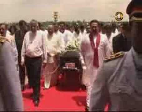 Anura Bandaranaike's remains taken to Parliament