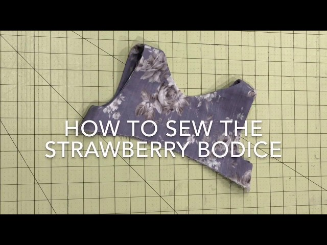 How To Sew The Strawberry Baby Doll Bodice