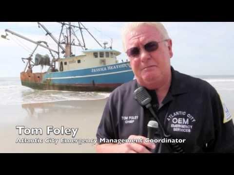 Beached Fishing Boat in Atlantic City